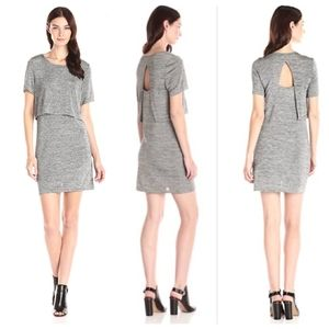Minkpink gray layered split back dress